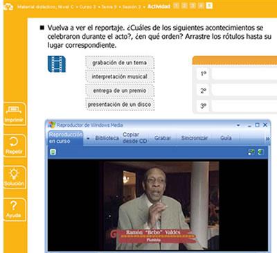 De AVE heeft activiteiten die zullen versterken het Spaans dat je geleerd hebt op skype